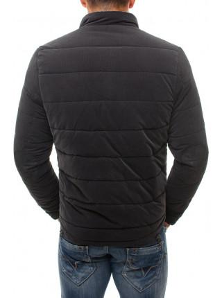 Демисезонная куртка антрацит с вставкой