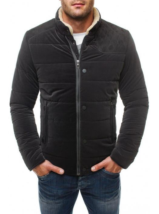 Демисезонная куртка антрацит с вставкой FC1_4570