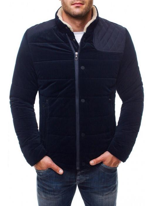 Демисезонная куртка синяя с вставкой FC1_4571 купить недорого