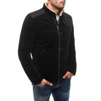 Демисезонная куртка черная с вставкой