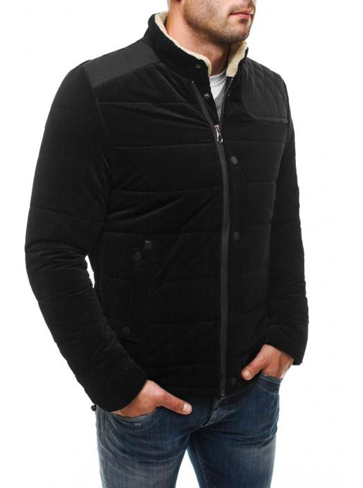 Демисезонная куртка черная с вставкой FC1_4572