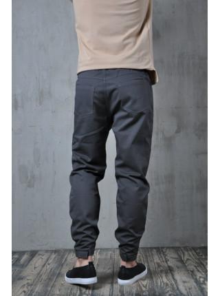 Зауженные брюки на липучке