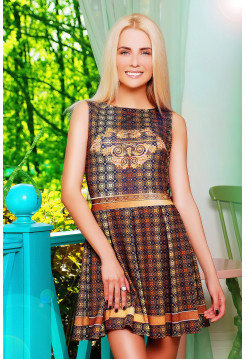 Золото платье Мия-1 б/р