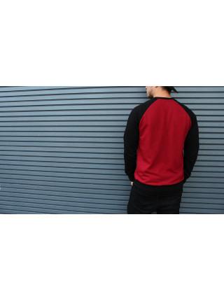 Свитшот HGLN красный с черными рукавами